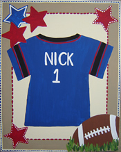 Custom Canvas Art: Sports Jersey...click to enlarge