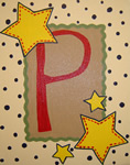 Single canvas letter...from Painted Jewels