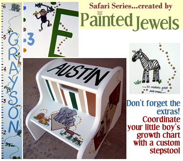click for information on the Painted Jewels Safari Series stepstool!