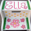 Flowers & Butterflies Theme Stepstools from Painted Jewels ... click to enlarge