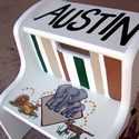 Safari Theme Stepstools from Painted Jewels ... click to enlarge