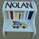 Trucks & Dozers ... Stepstools from Painted Jewels ... click to enlarge